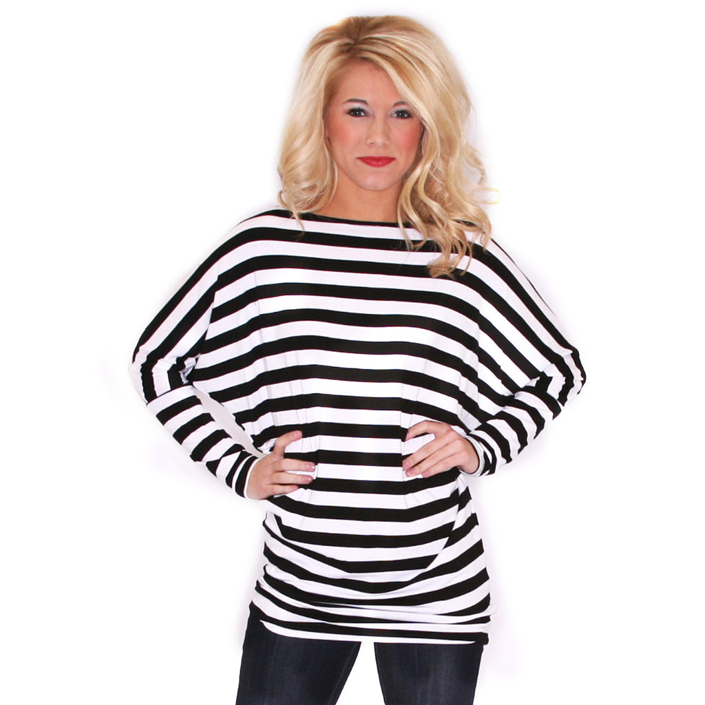 A Striped Affair Tunic Black