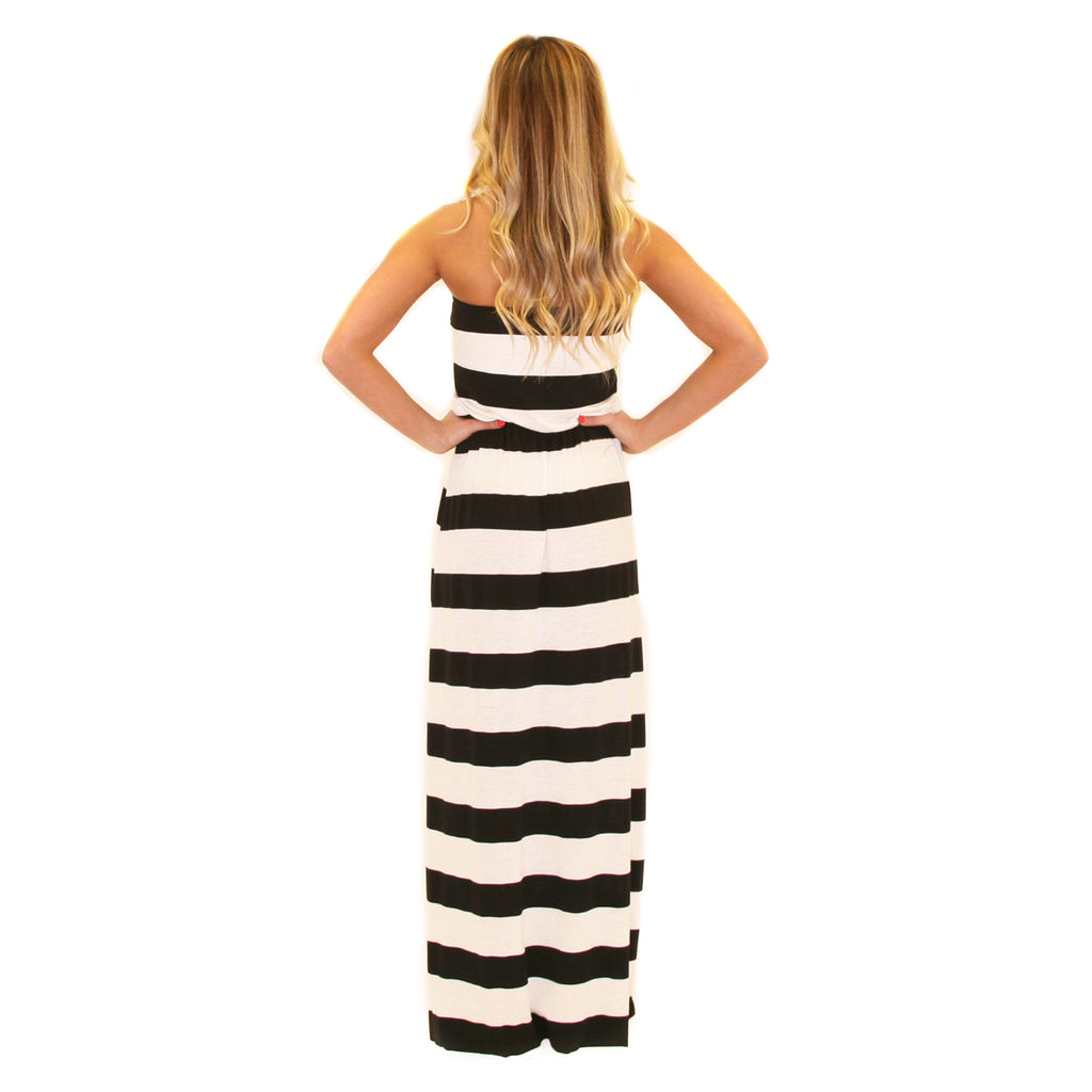 Striped Ambition Maxi Black