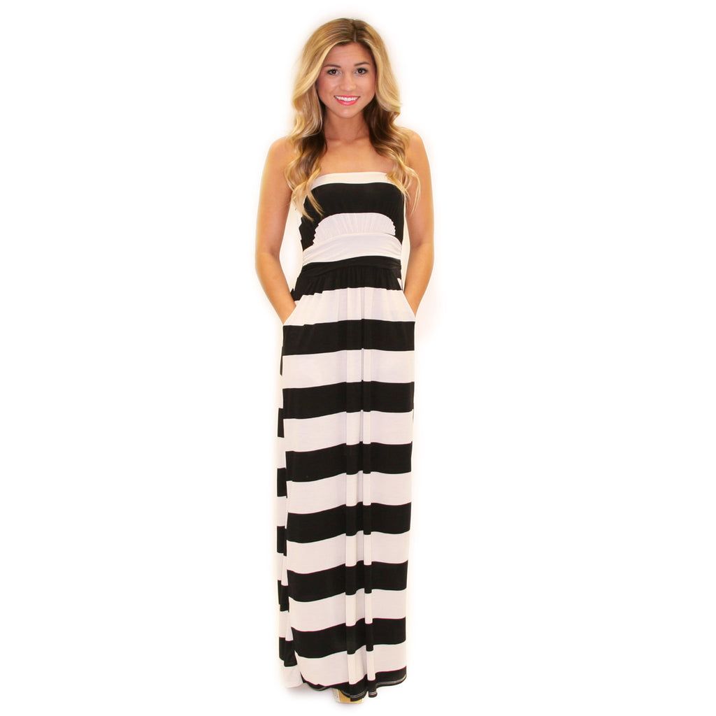 Striped Amore Maxi Black