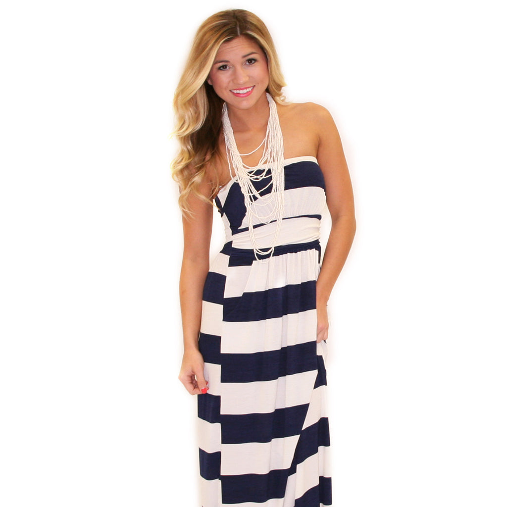 Striped Amore Maxi Navy