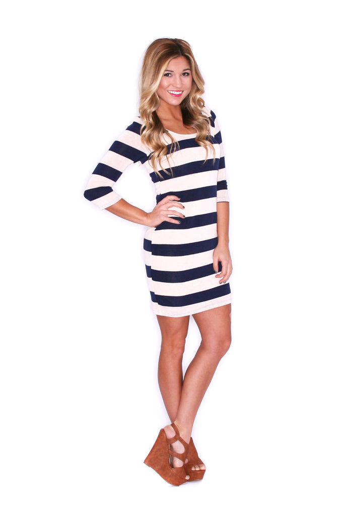 Striped Beauty in Navy