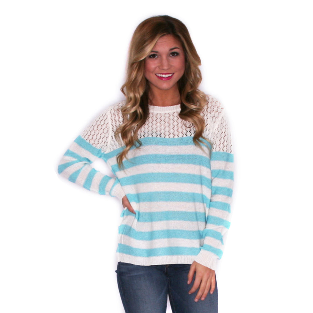 Striped Crush Aqua