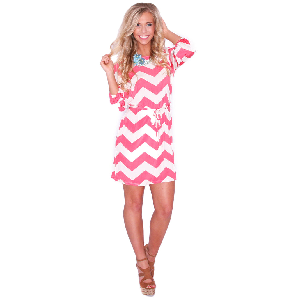 Striped Embrace in Coral