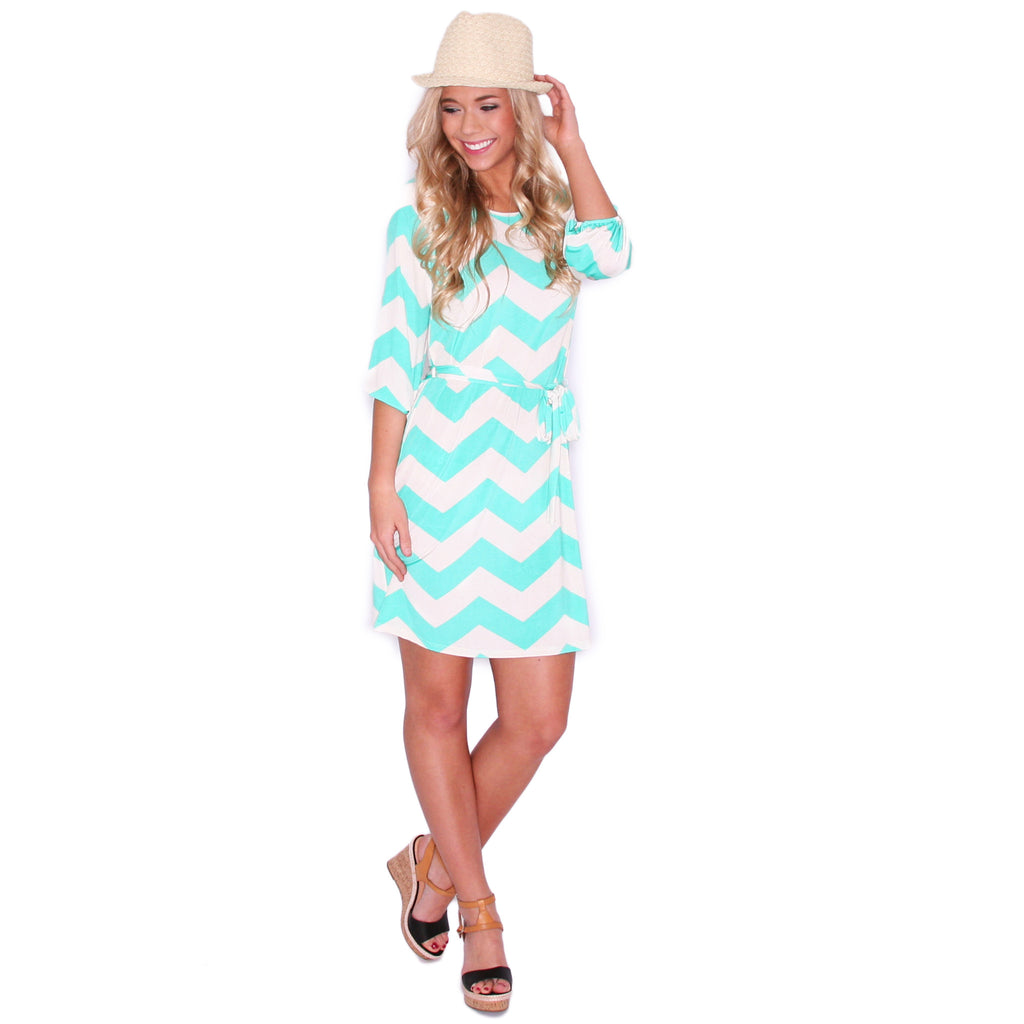 Striped Embrace in Mint