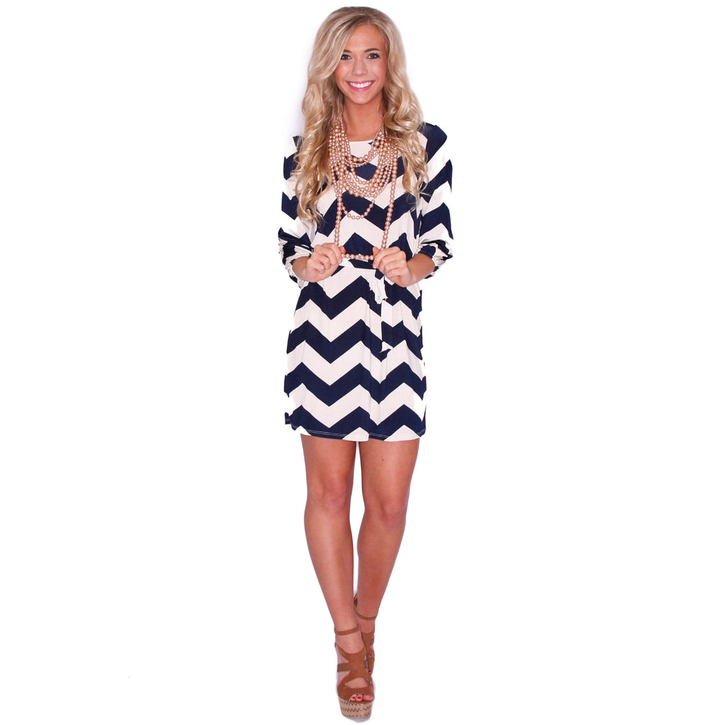 Striped Embrace in Navy