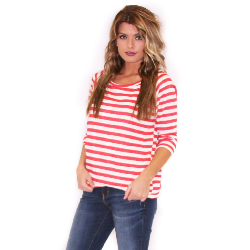 Striped Romance in Red