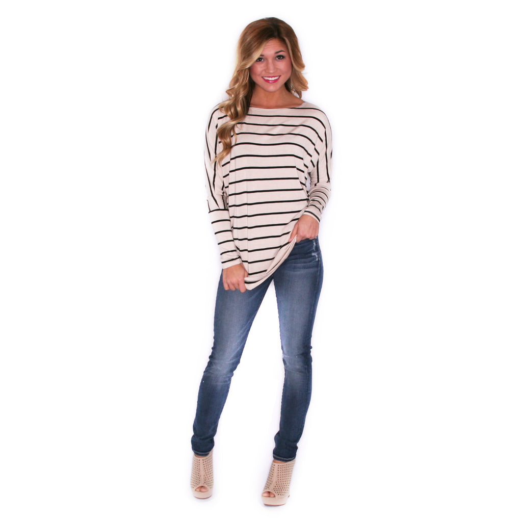 Striped In Style Taupe