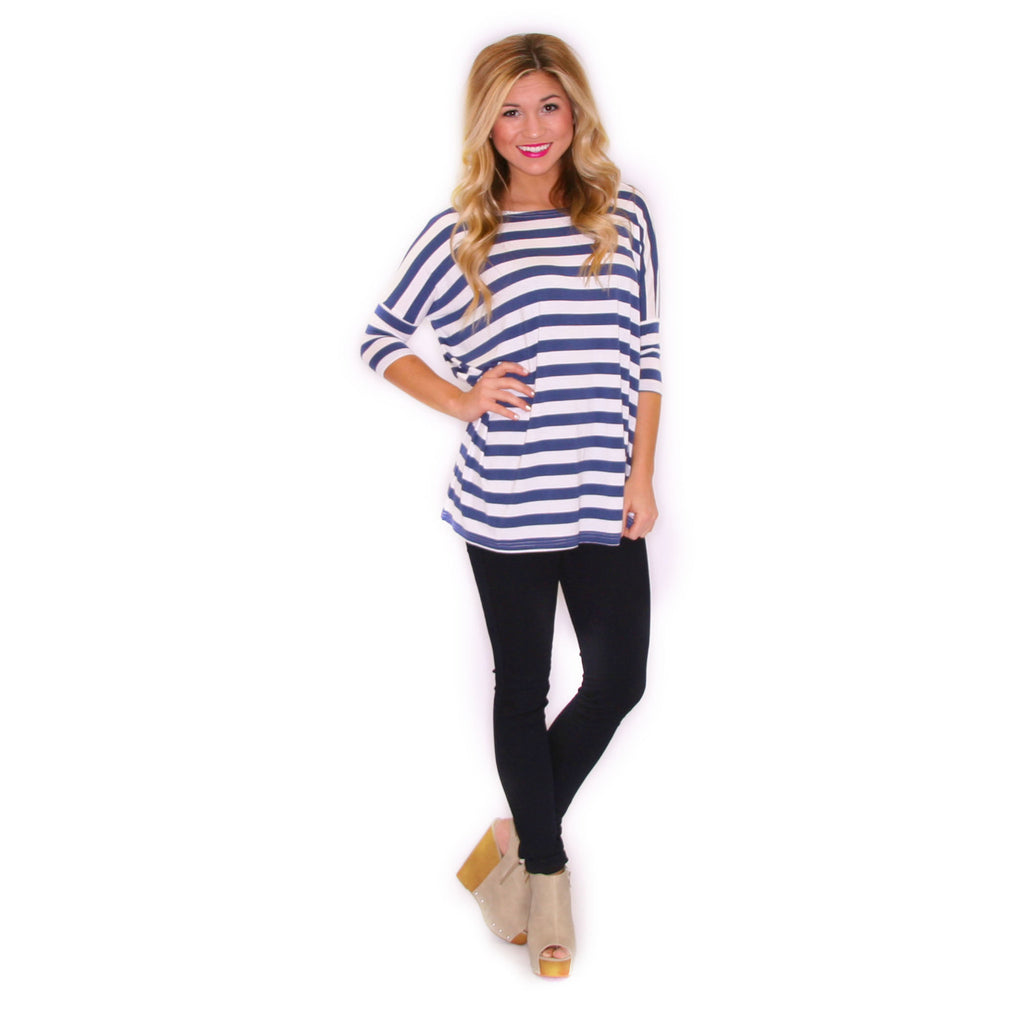 PIKO Striped Tee in Blue