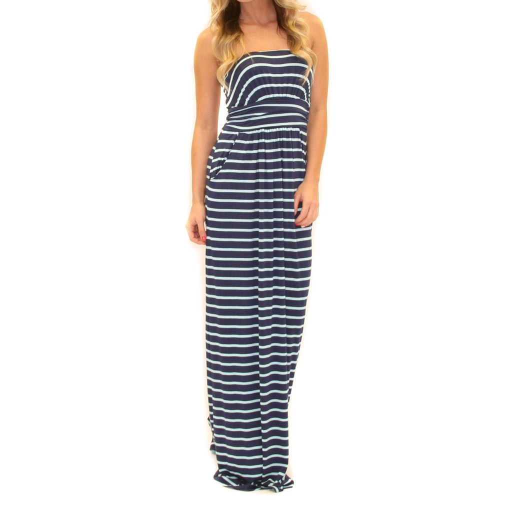 Sweet On Stripes Maxi Navy