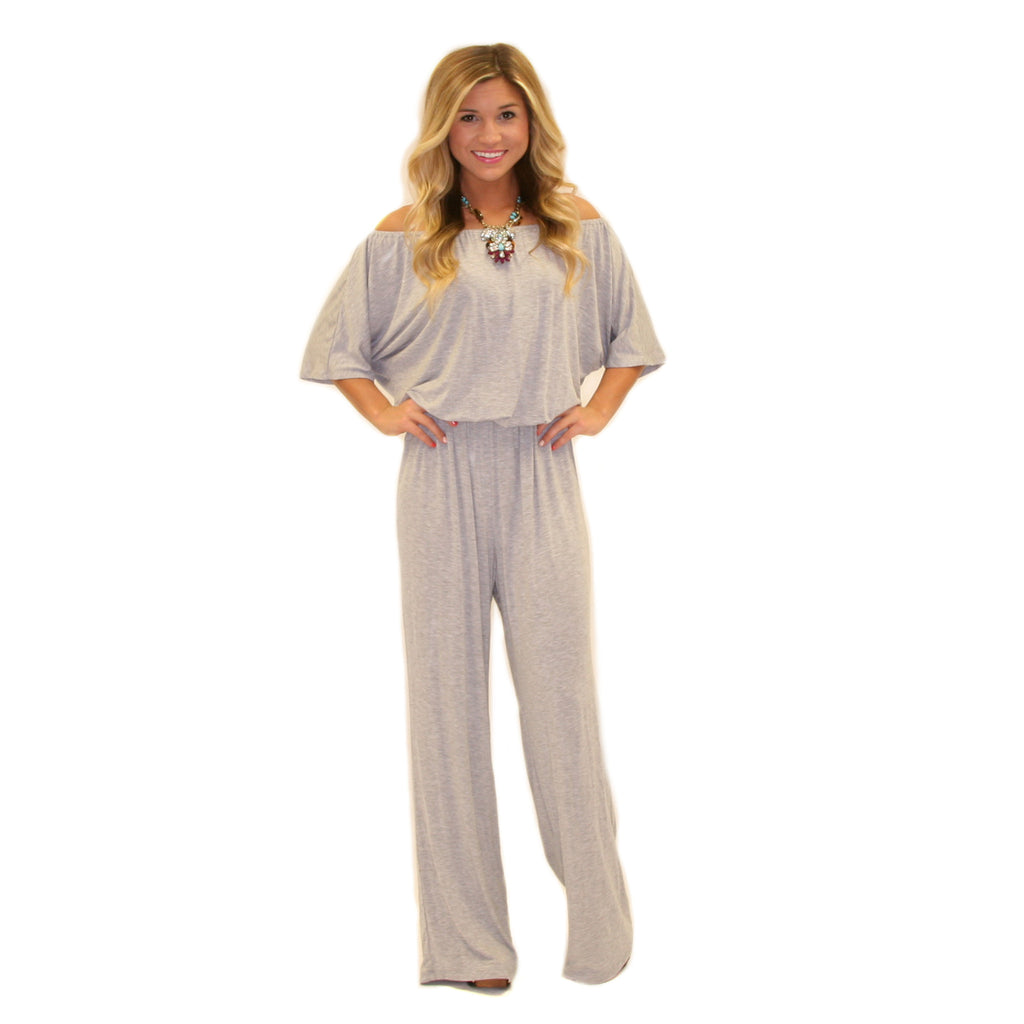 Style For Days Jumpsuit Heather Grey