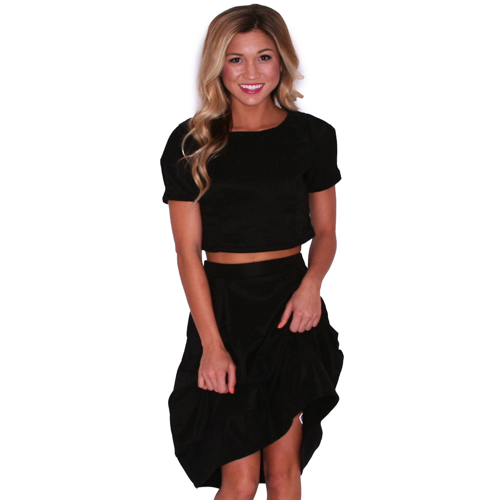 Summer Brunching Skirt in Black