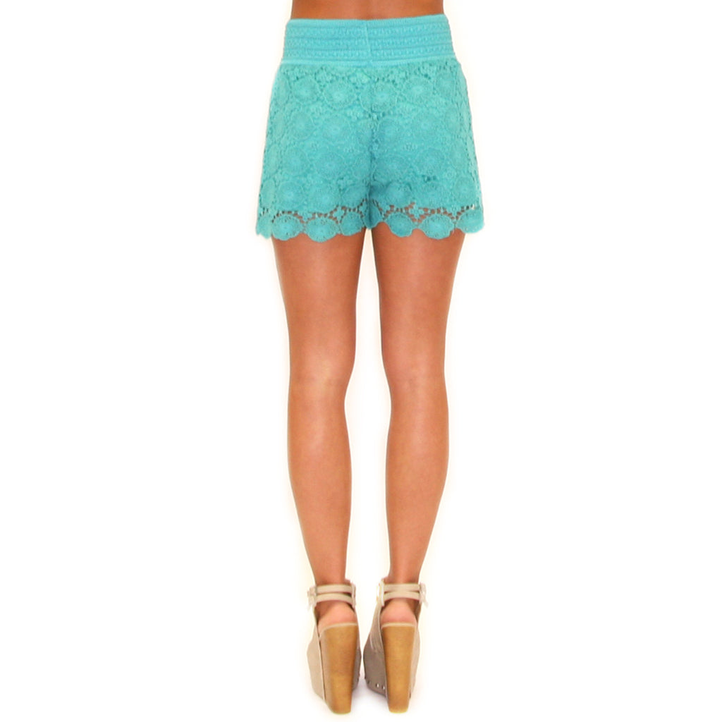 Summer Days High Waist Short in Jade