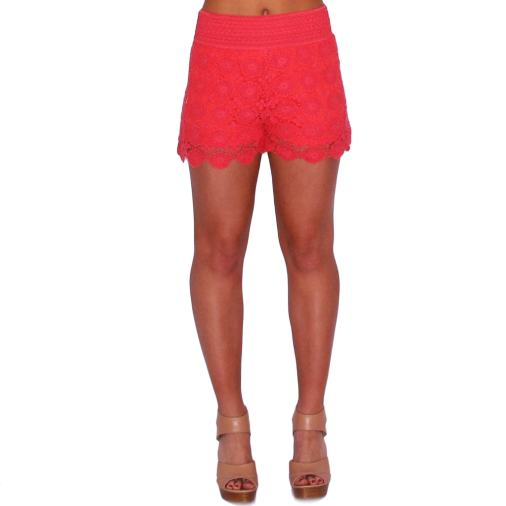 Summer Days High Waist Short in Coral