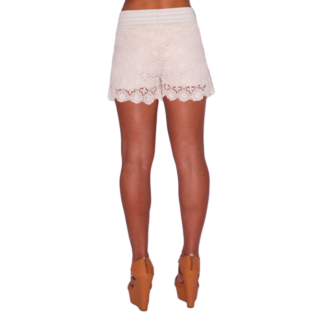 Summer Days High Waist Short in Ivory