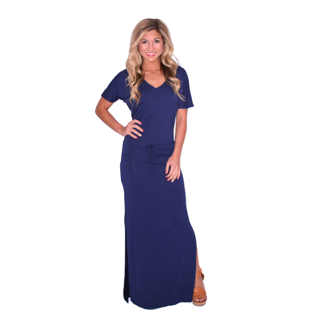 Hot Summer Nights Maxi in Navy
