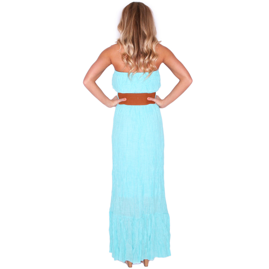 Summertime Sunsets Maxi in Aqua