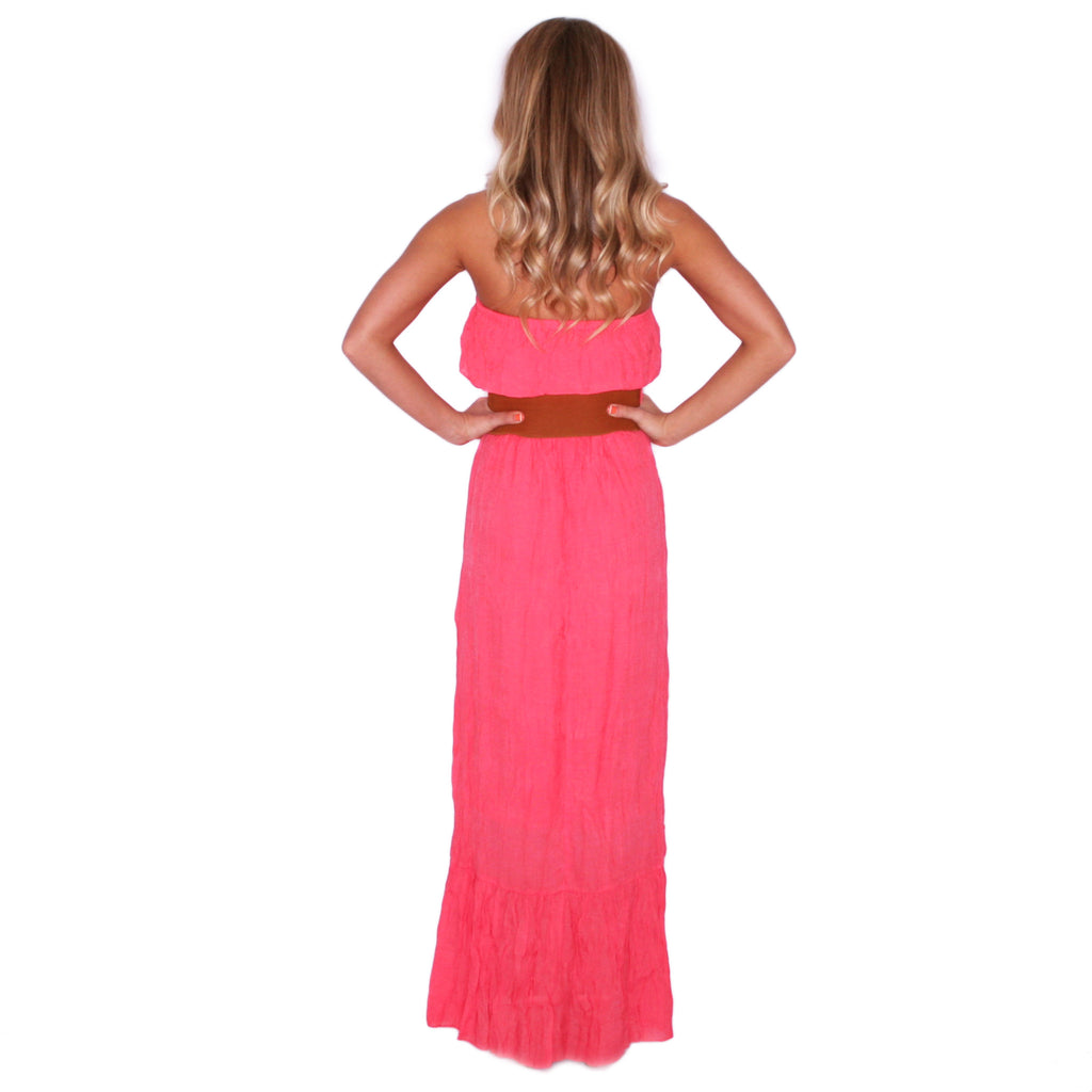 Summertime Sunsets Maxi in Coral