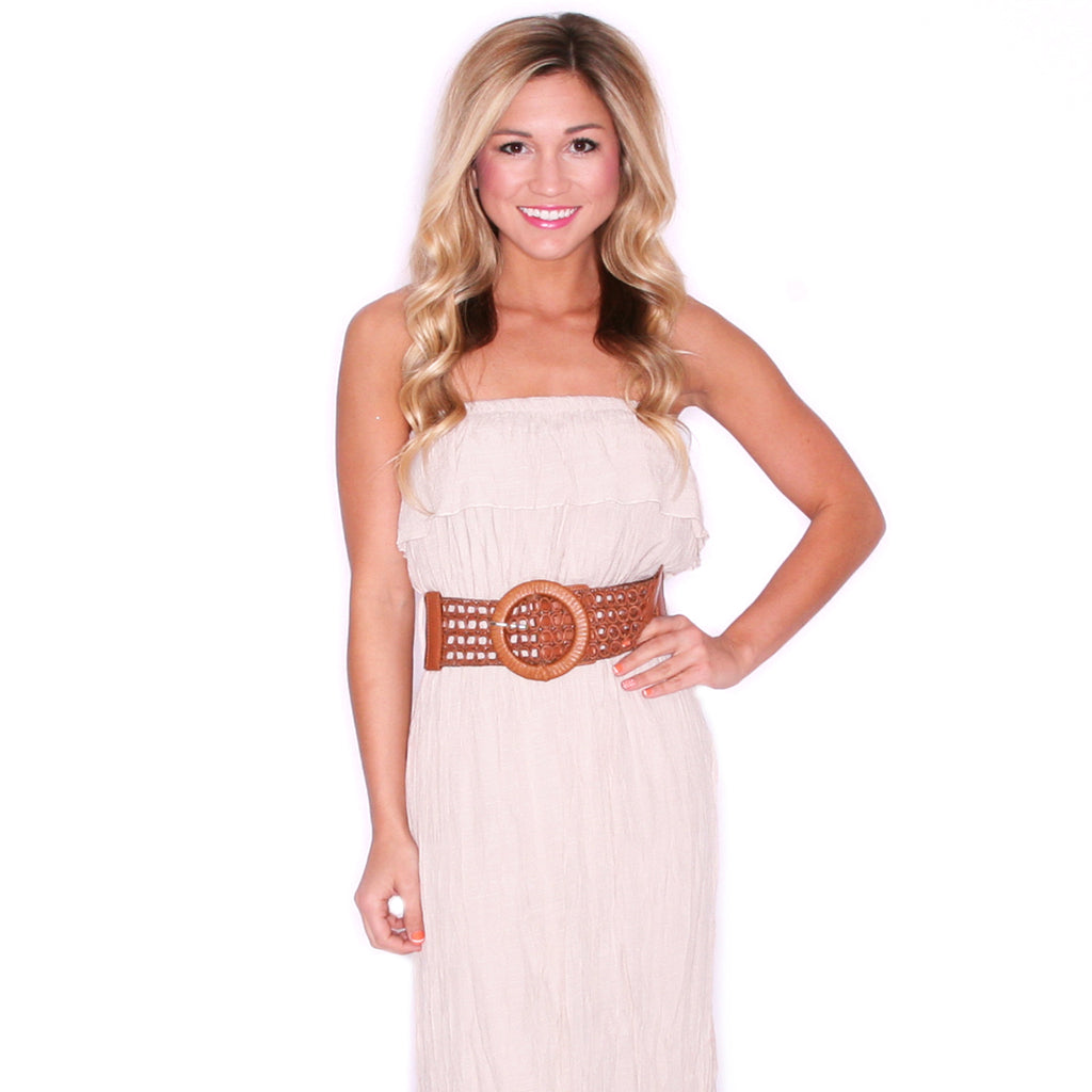 Summertime Sunsets Maxi in Taupe
