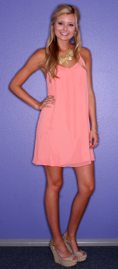 Sunkissed Coral Dress
