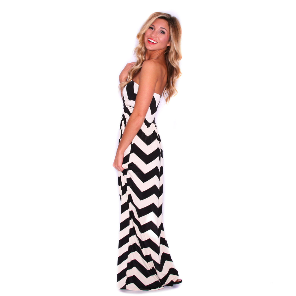 Sunkissed Stripe Maxi in Black