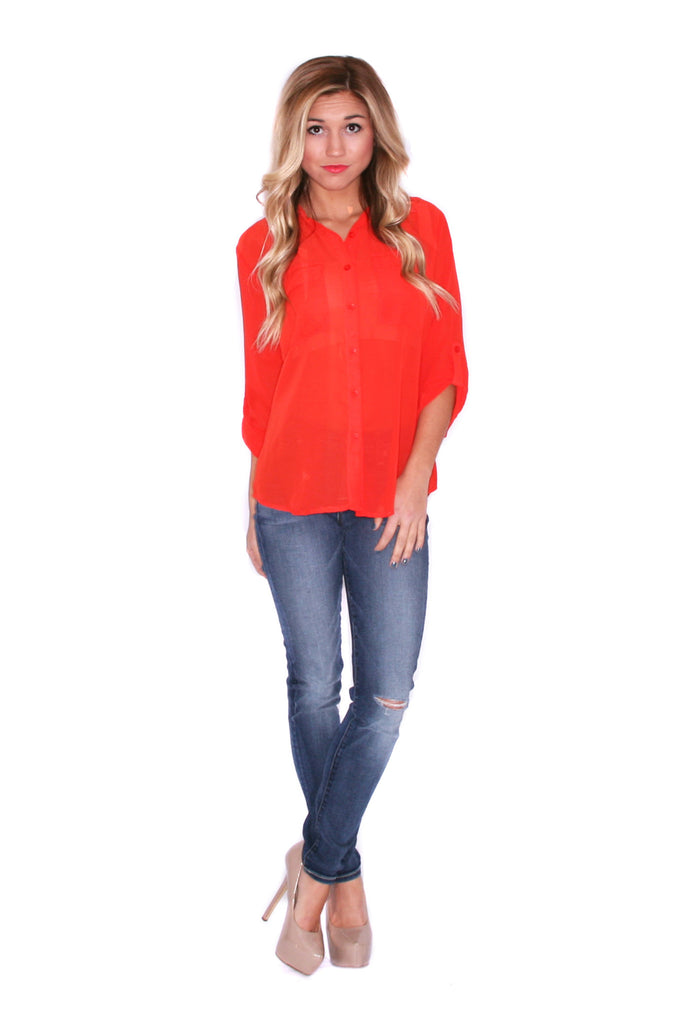 Sunkissed Button Up Coral