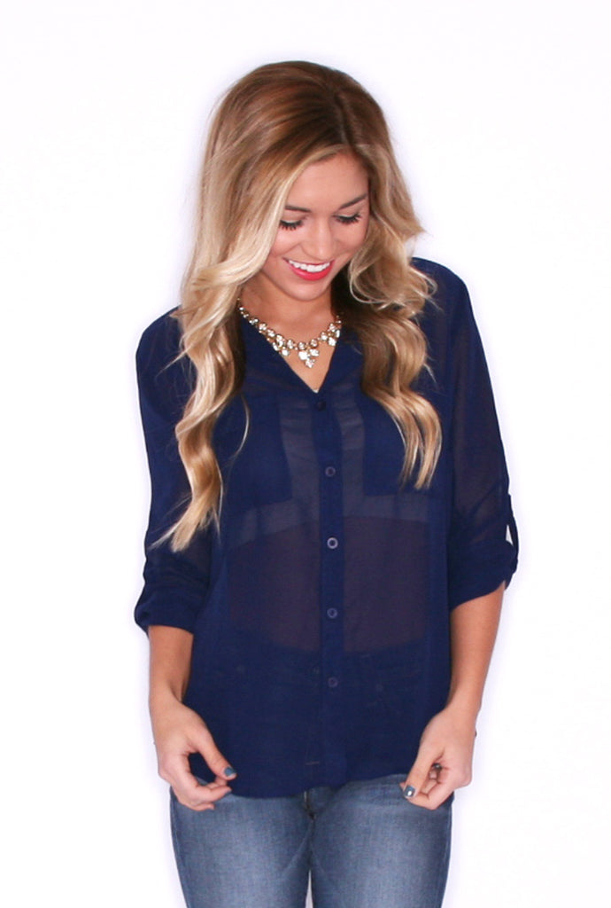 Sunkissed Button Up Navy