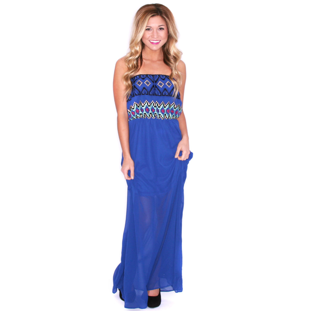 Sunkissed Divine Maxi Royal Blue