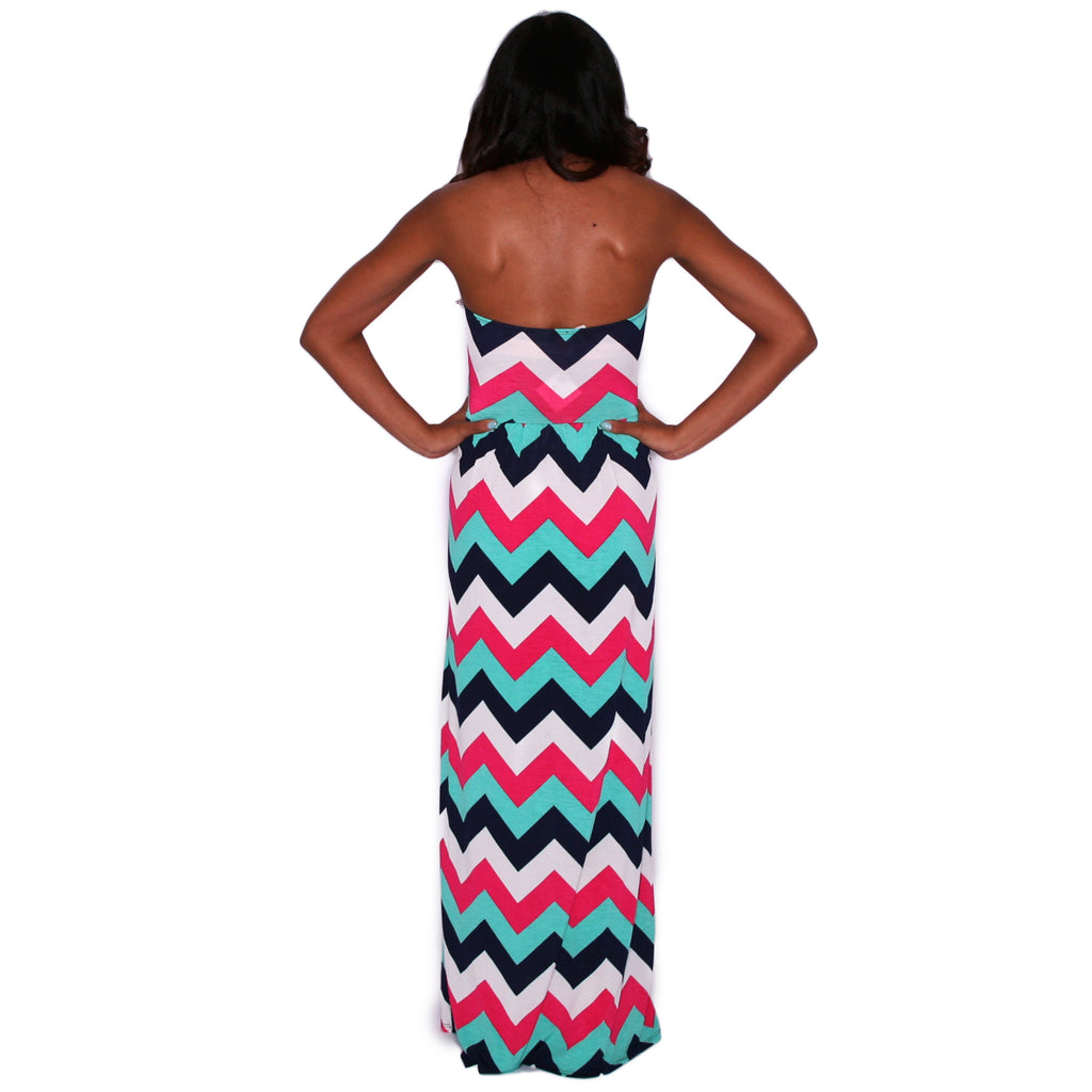 Sunkissed Stripe Maxi in Fuchsia