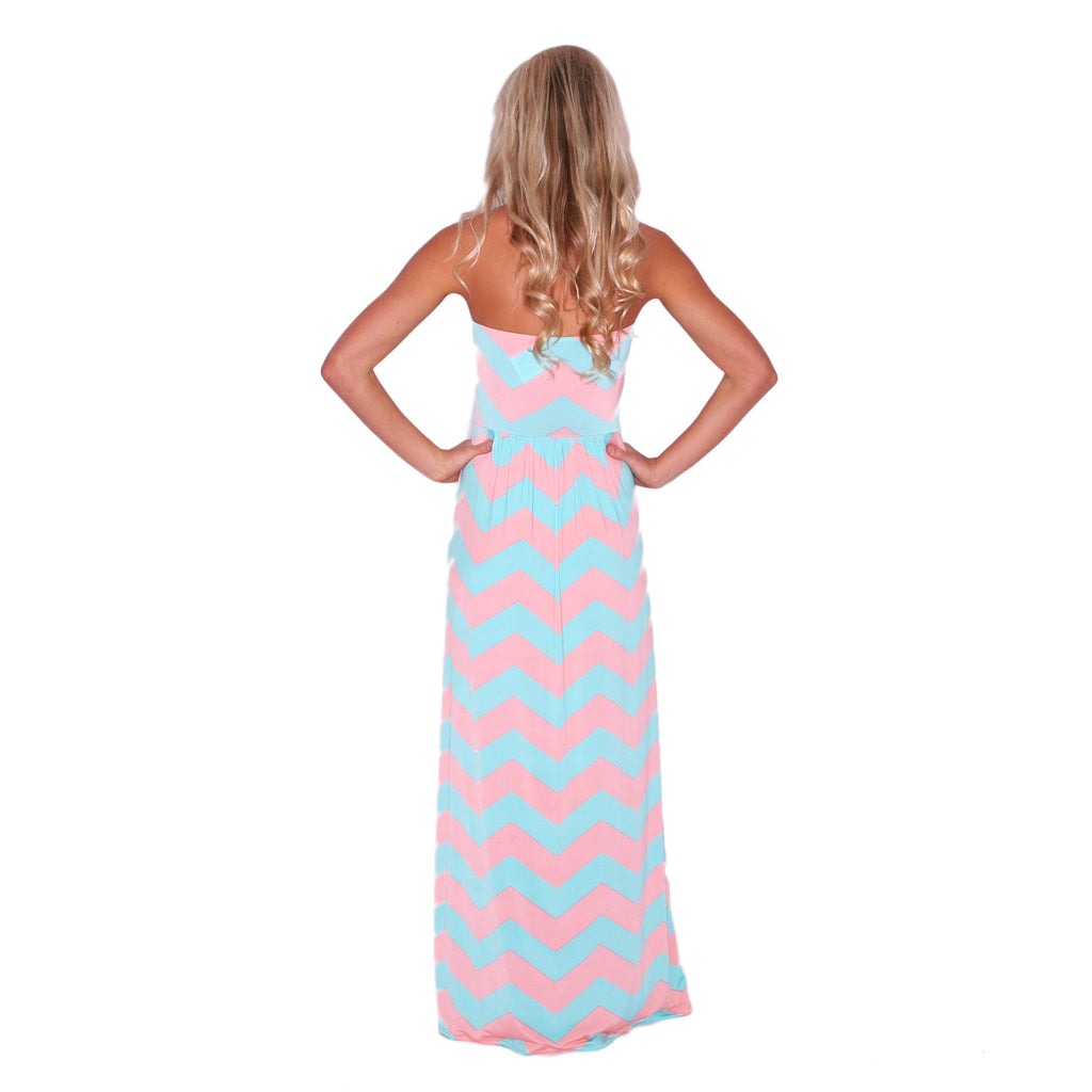 Sunkissed Stripe Maxi in Pink & Jade