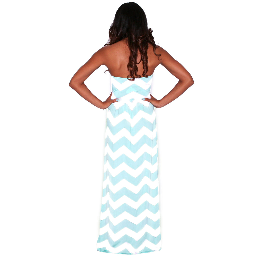 Sunkissed Stripe Maxi in Mint and White