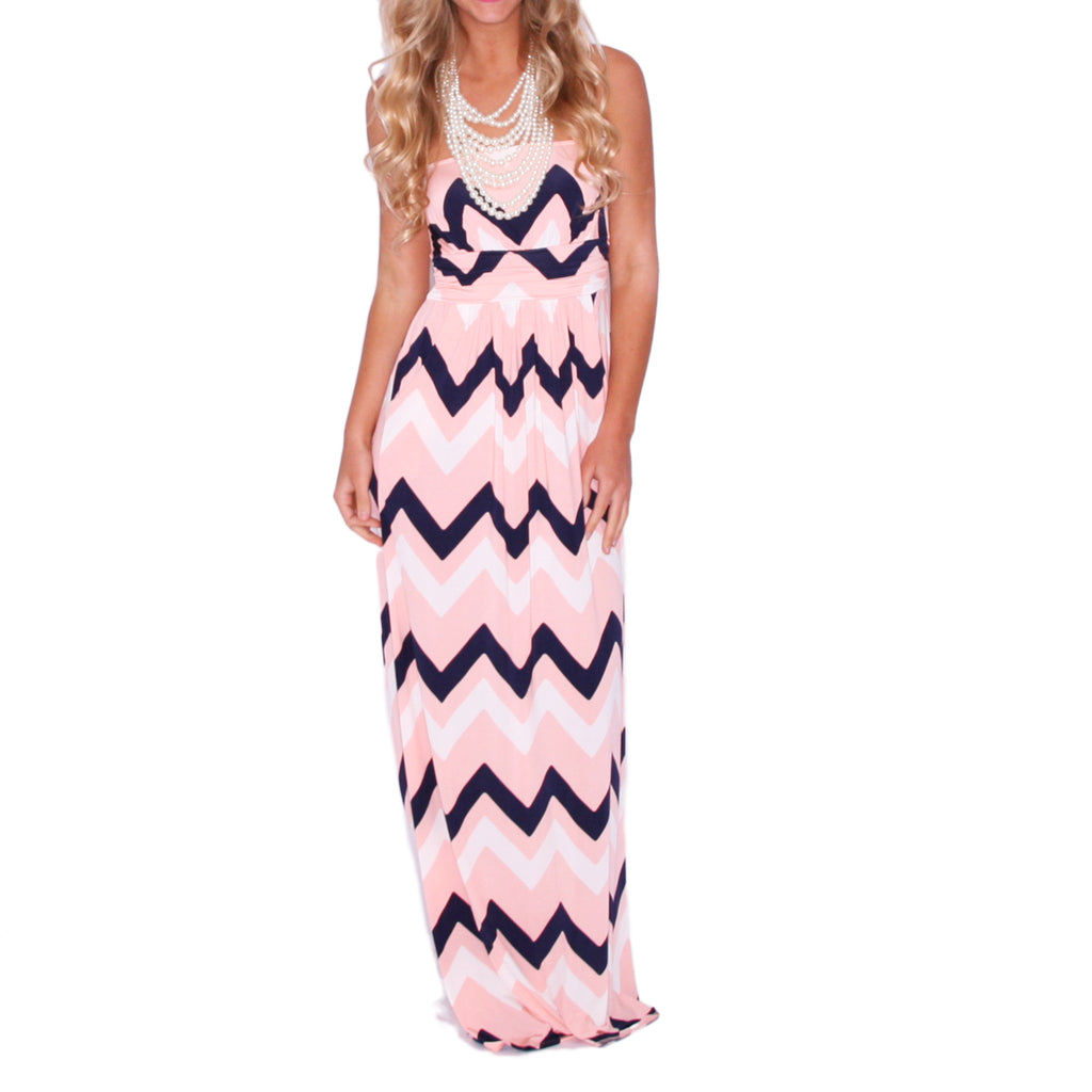 Sunkissed Stripe Maxi in Pink