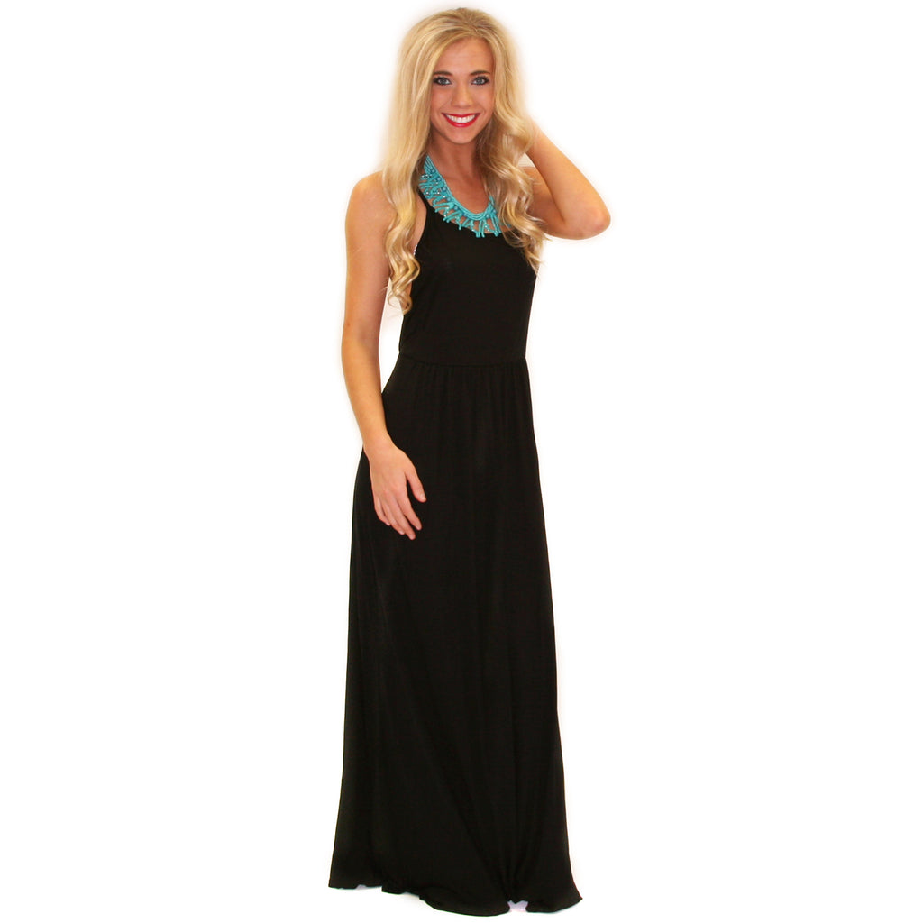 Sunkissed Shoulders Maxi Black