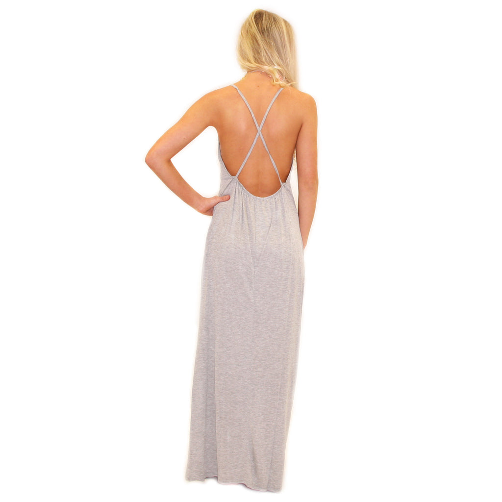 Sunkissed Shoulders Maxi Grey