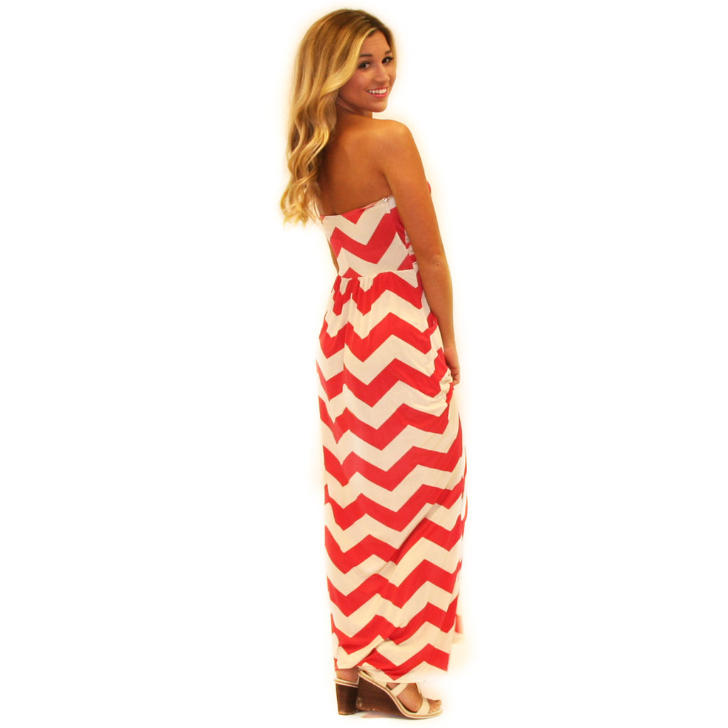 Sunkissed Stripe Maxi in Coral
