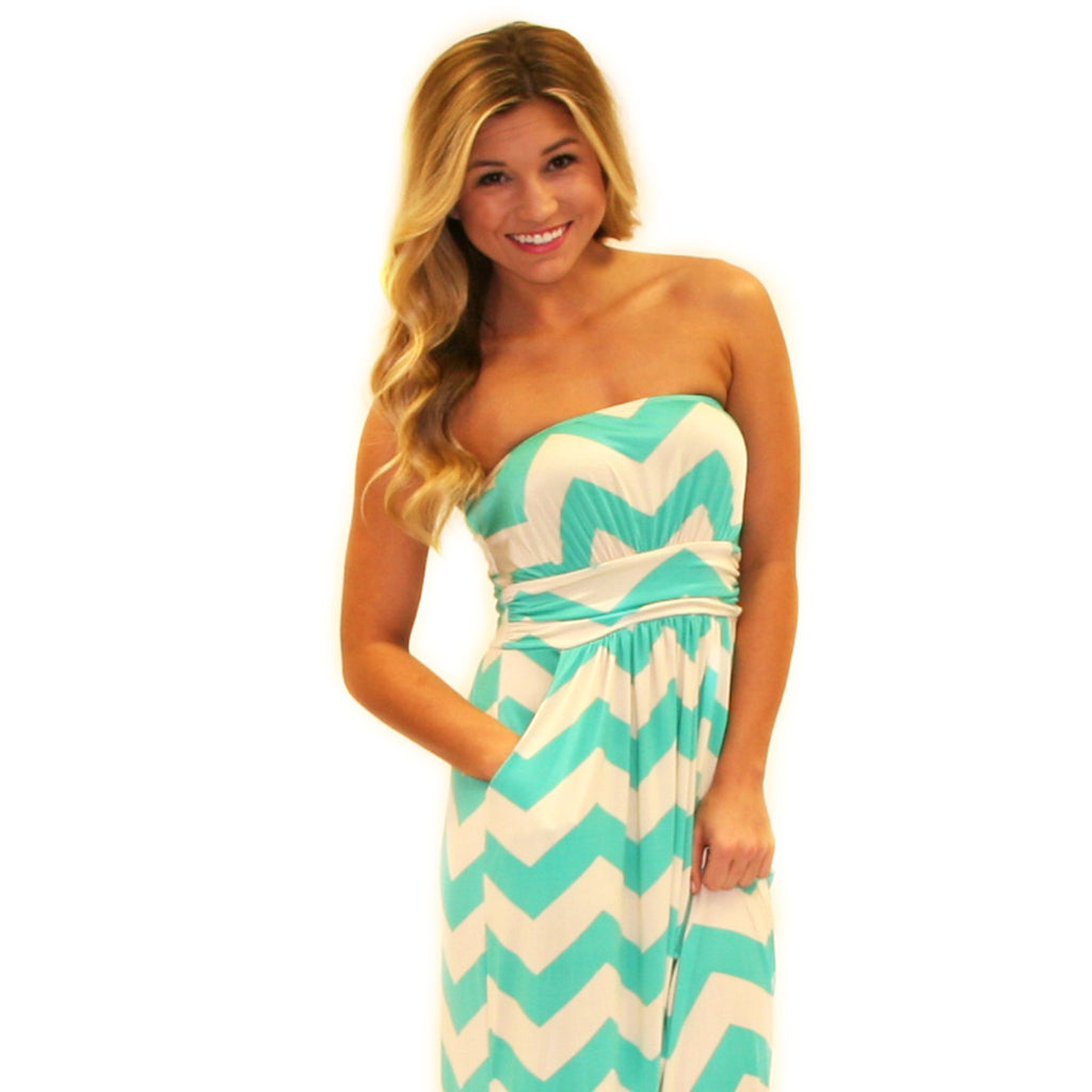 Sunkissed Stripe Maxi in Jade and Ivory