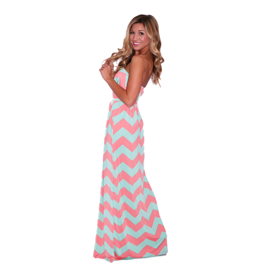 Sunkissed Stripe Maxi in Pink & Mint