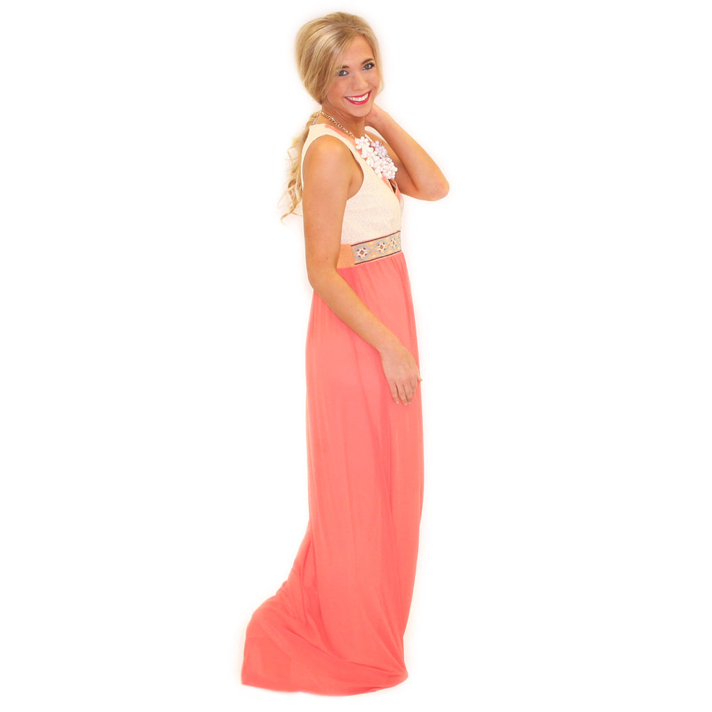 Sunny Days Maxi in Coral