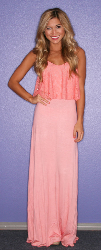 Sunrise, Sunset Maxi in Coral