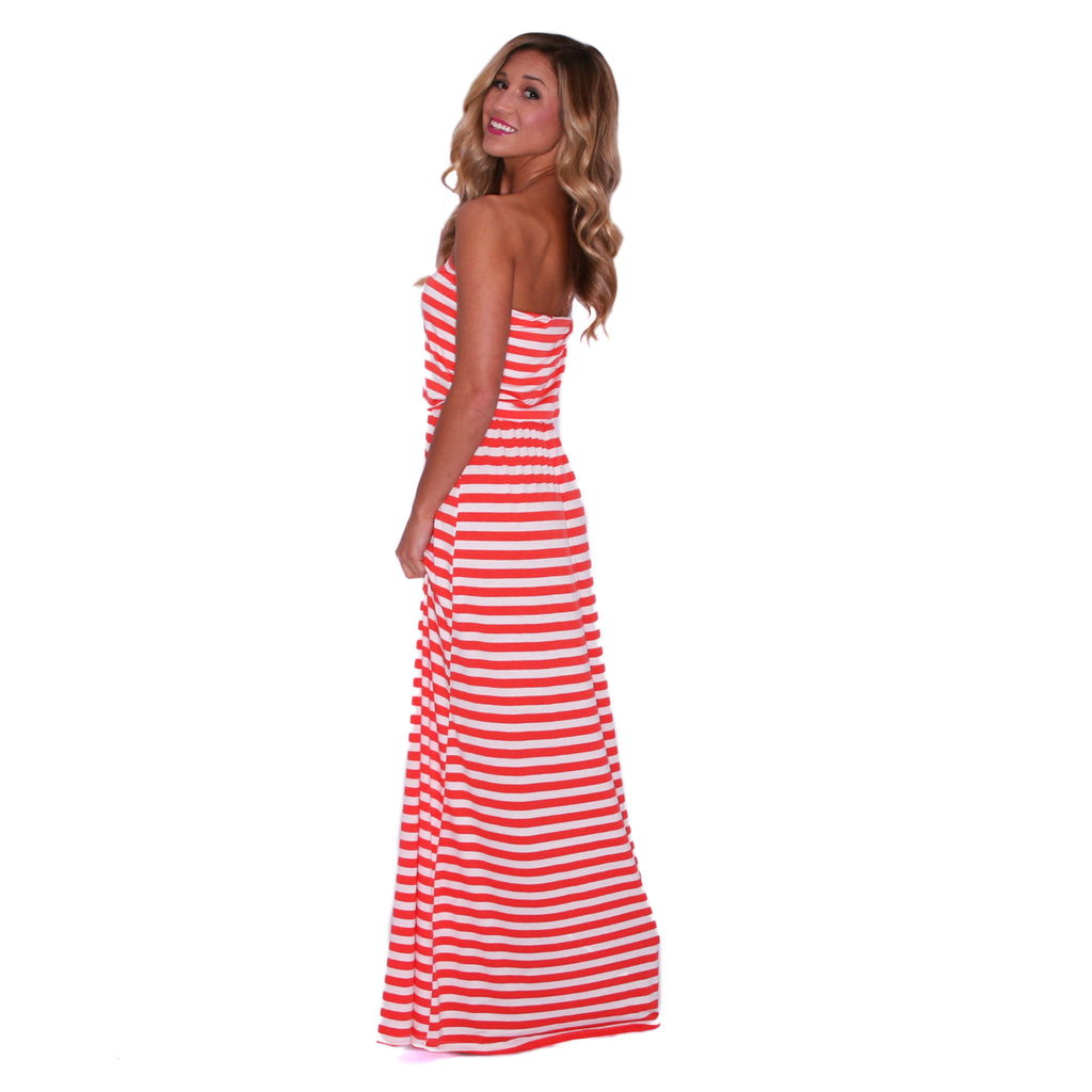 Sun Shine On Me Maxi in Coral