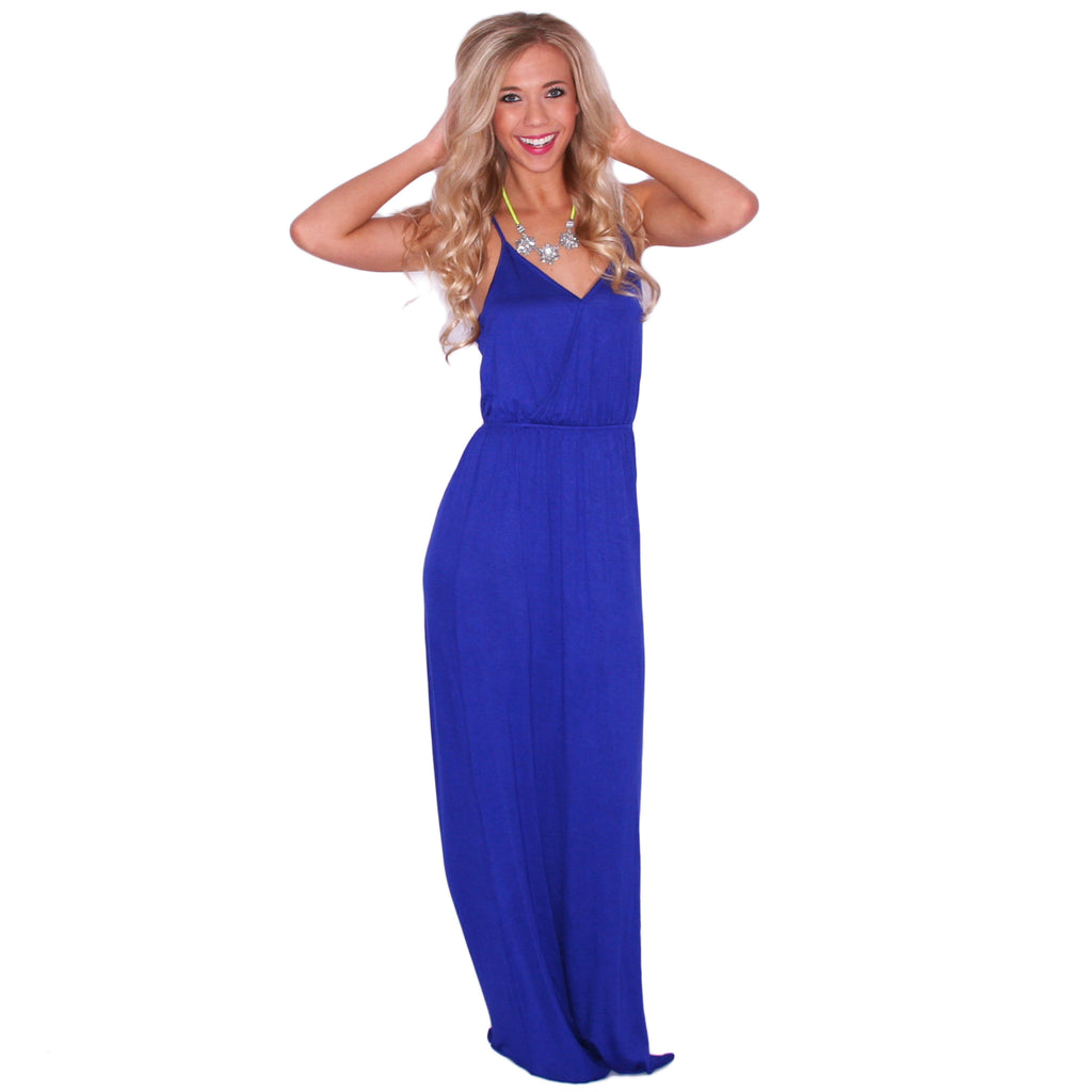 Sunshine Days Maxi in Royal Blue