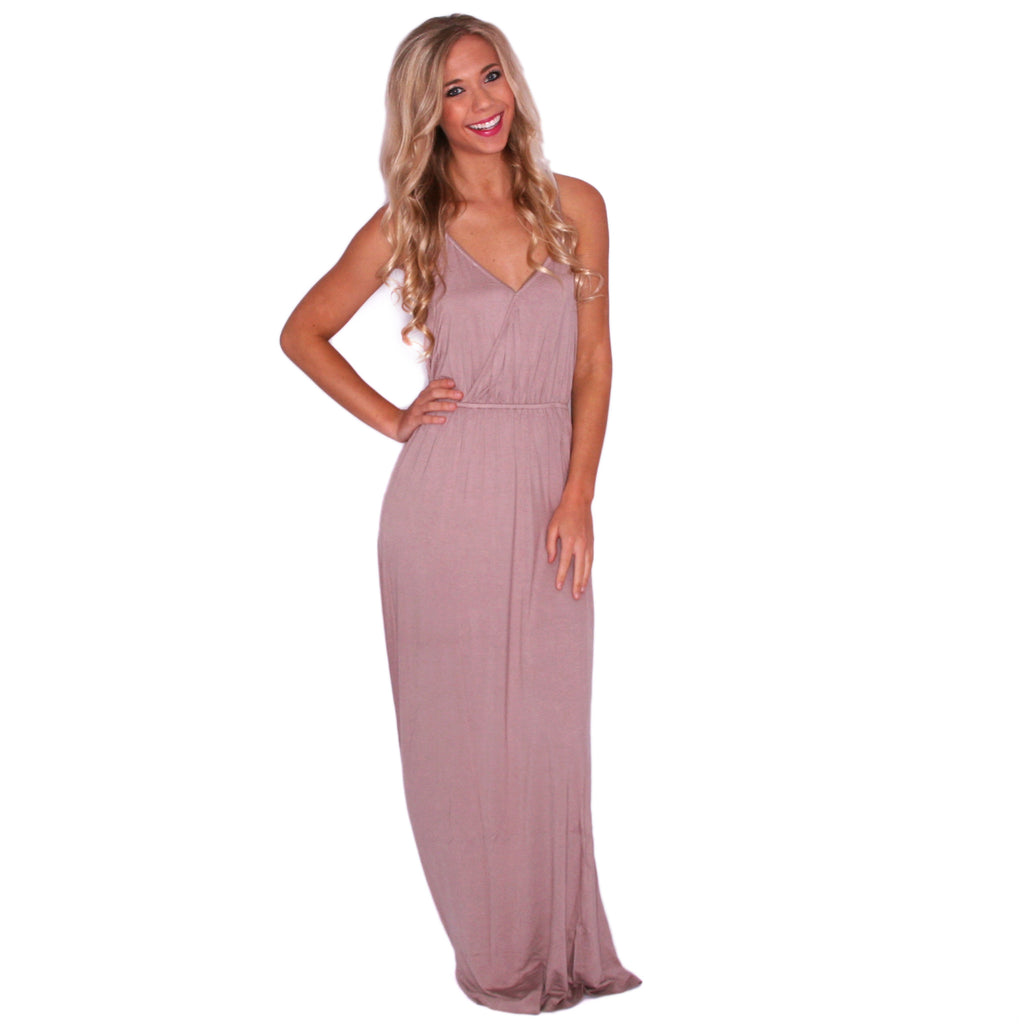 Sunshine Days Maxi in Taupe
