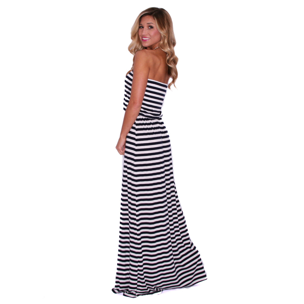 Sun Shine On Me Maxi in Navy