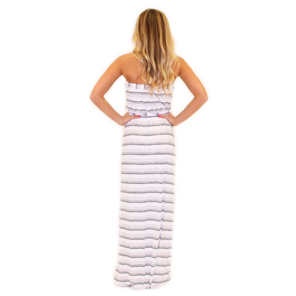 Sun Tans & Mimosas Maxi Dress in White