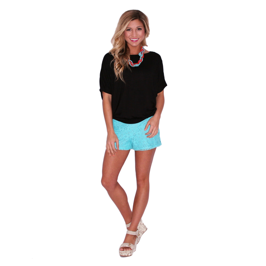 Touch of Whimsy Shorts in Teal