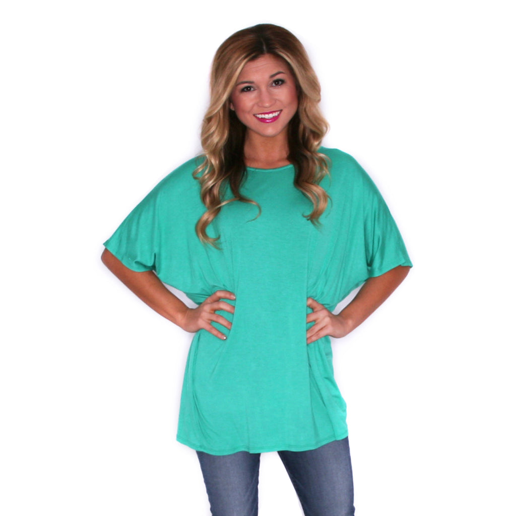 Sweet & Care Free Tee in Jade