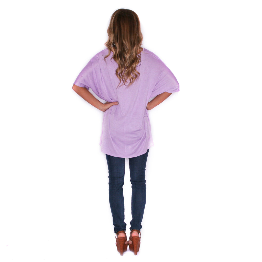 Sweet & Care Free Tee in Lavender