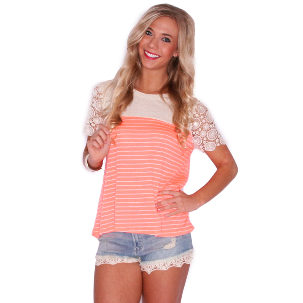Sweeter In Stripes in Neon Orange