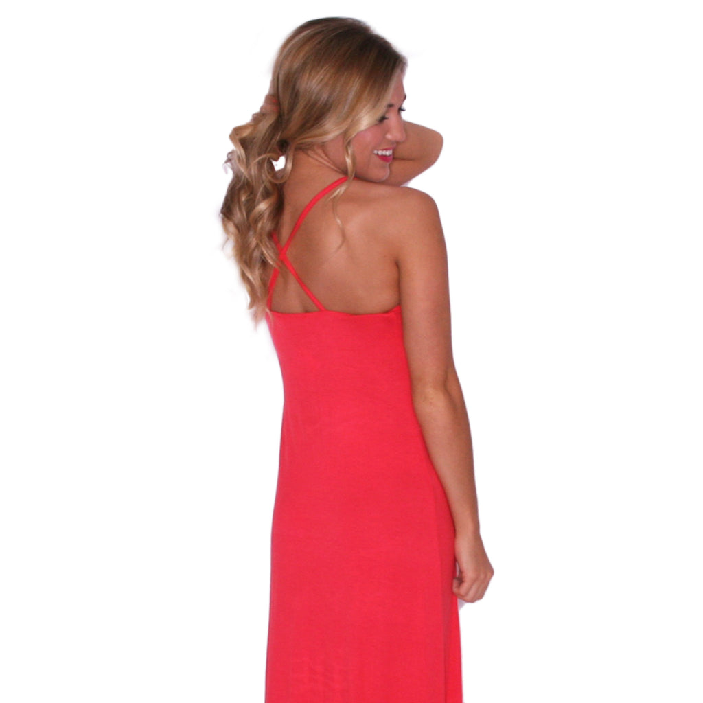 Sweetest Summertime Maxi in Coral