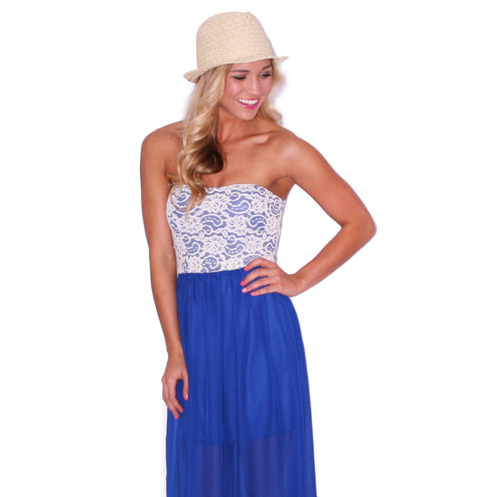 Sweetheart Brunch Maxi in Royal Blue