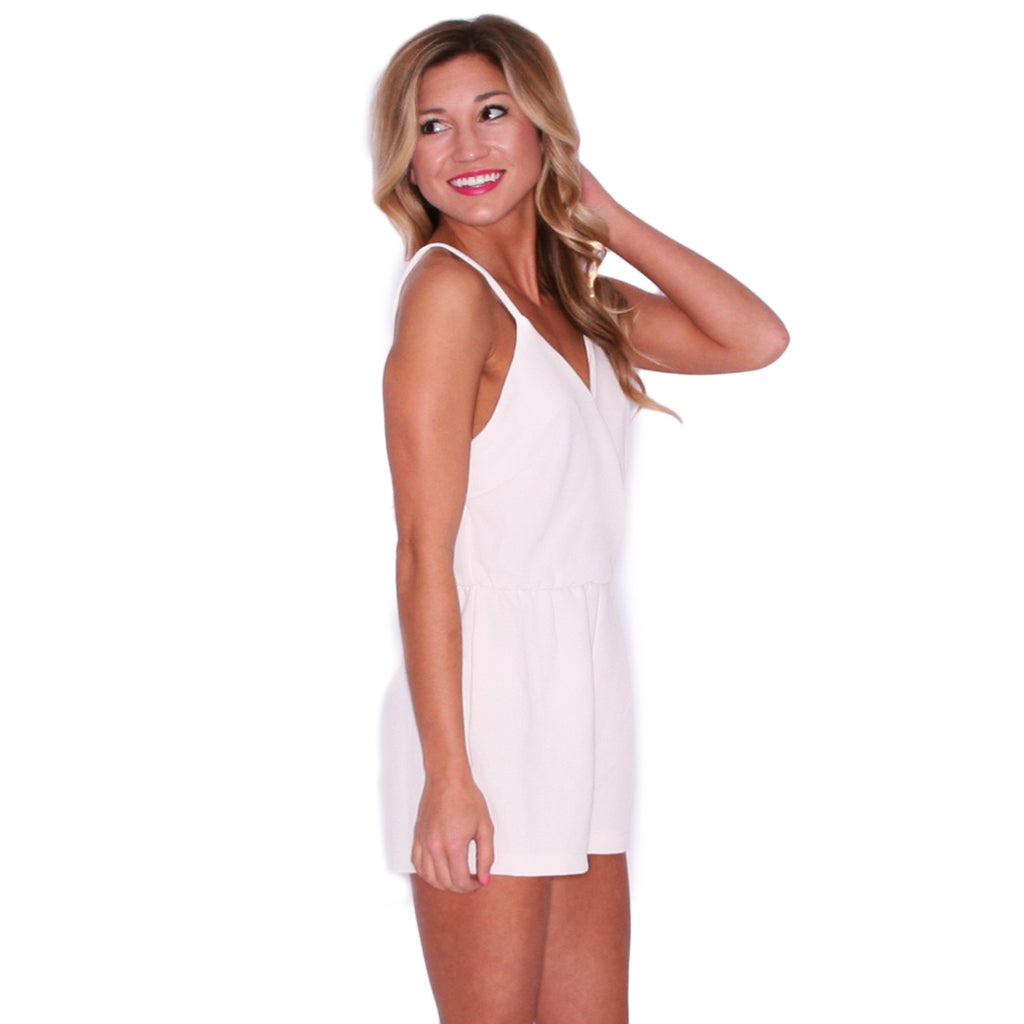 Sweetheart Romper in Ivory
